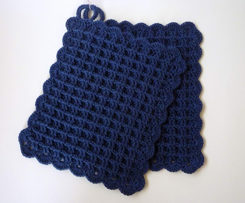 geh/äkelt Topflappen d.blau-jeans Waffelmuster 164