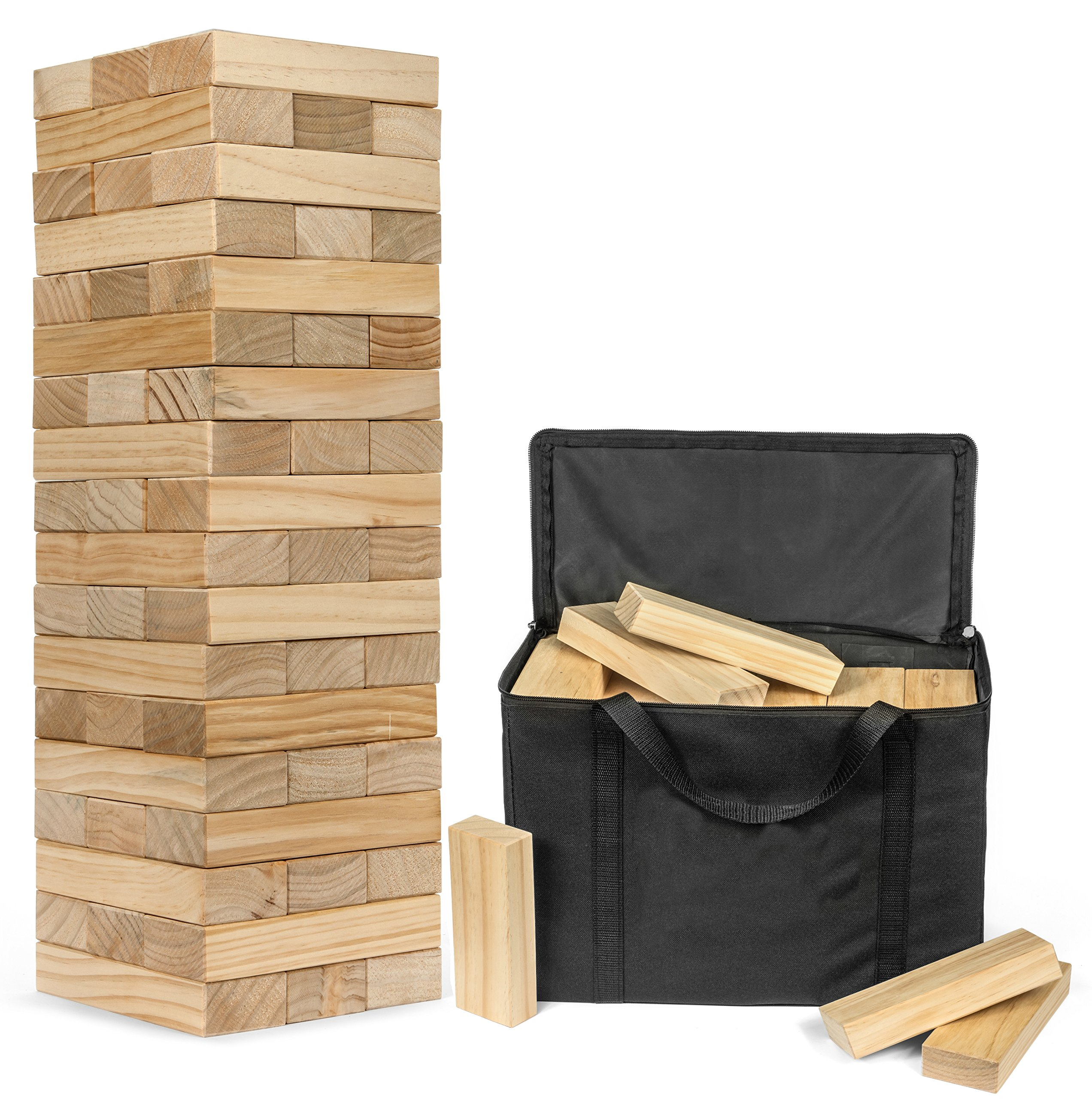 Giant Topple Tower - Plays Over 5 Feet Tall - With Heavy Duty Carrying Case