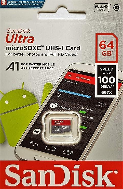 SanDisk Ultra - Tarjeta de memoria microSDXC de 64 GB con ...