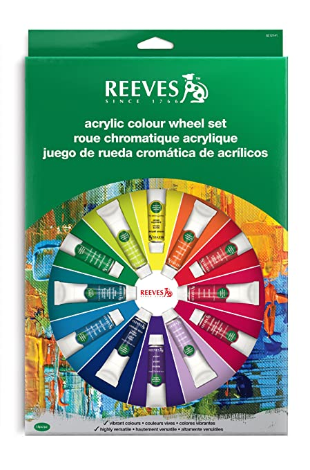Amazon Com Reeves Acrylic Color Wheel Set Paint Kit Arts Crafts