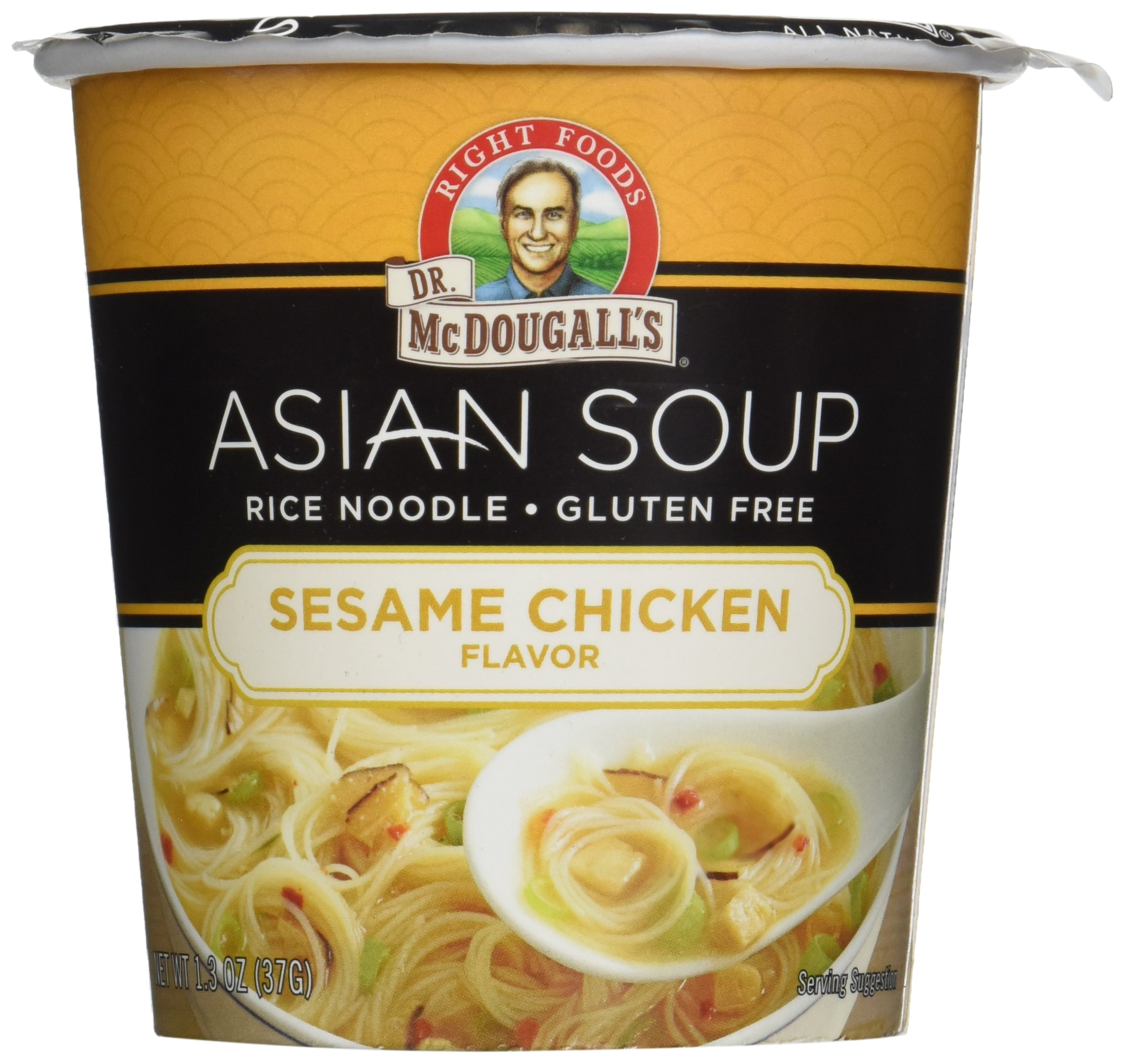 Dr McDougalls Sesame Chicken Rice Noodle Asian Soup, 1.3 Ounce - 6 per case. by Dr. McDougalls Right Foods
