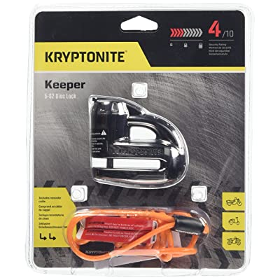 Kryptonite 000877 Keeper 5s Black Chrome Disc Lock: Automotive [5Bkhe0805556]