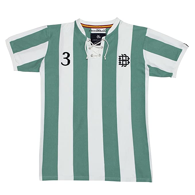 Coolligan - Camiseta de Fútbol Retro 1907 Verdiblancos - Color - Verde - Talla - 3XL