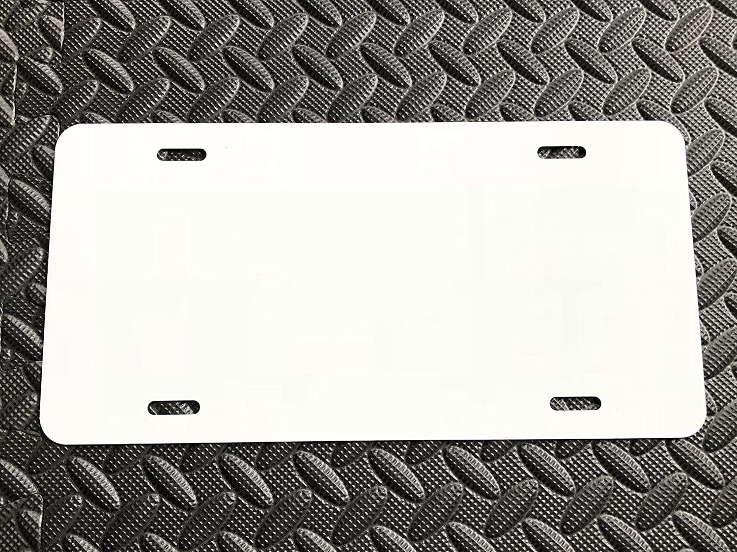 MADE IN USA Aluminum Blank License Plate LICENSEPLATETAGS.COM WHITE Laser Cut 12x6 .020 Gauge 0.5mm