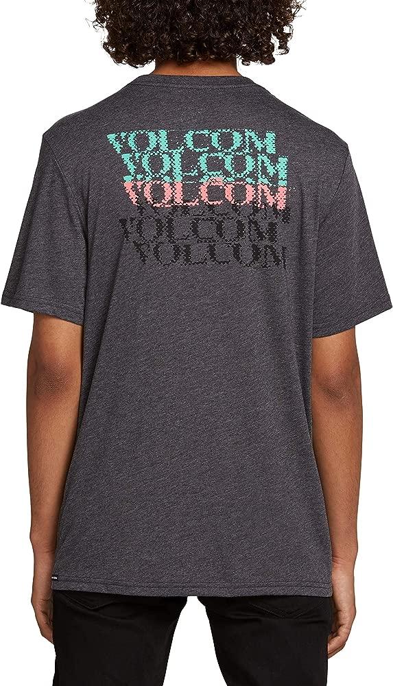Volcom Mens Stone Alias Modern Fit Short Sleeve Tee, Heather ...