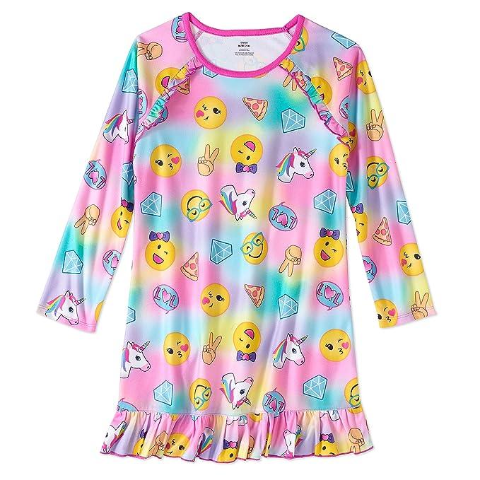 Big Girls Emojis Design Long Sleeve Sleep Gown Nightgown Light Fleece  Sleepwear Pajamas (Large) 10 12  Amazon.ca  Clothing   Accessories 5f4c35615