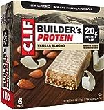 CLIF BUILDER'S - Protein Bar - Vanilla Almond - (2.4 Ounce Non-GMO Bar, 6 Count)