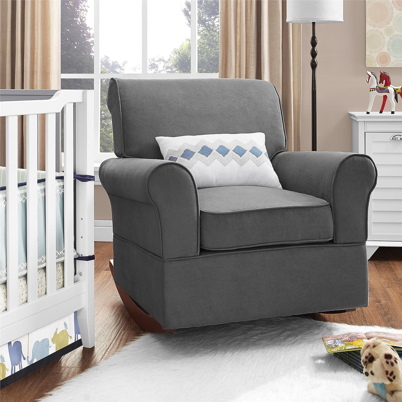 Amazon Baby Relax The Mackenzie Microfiber Plush Nursery – Rocking Chairs for Baby Nursery