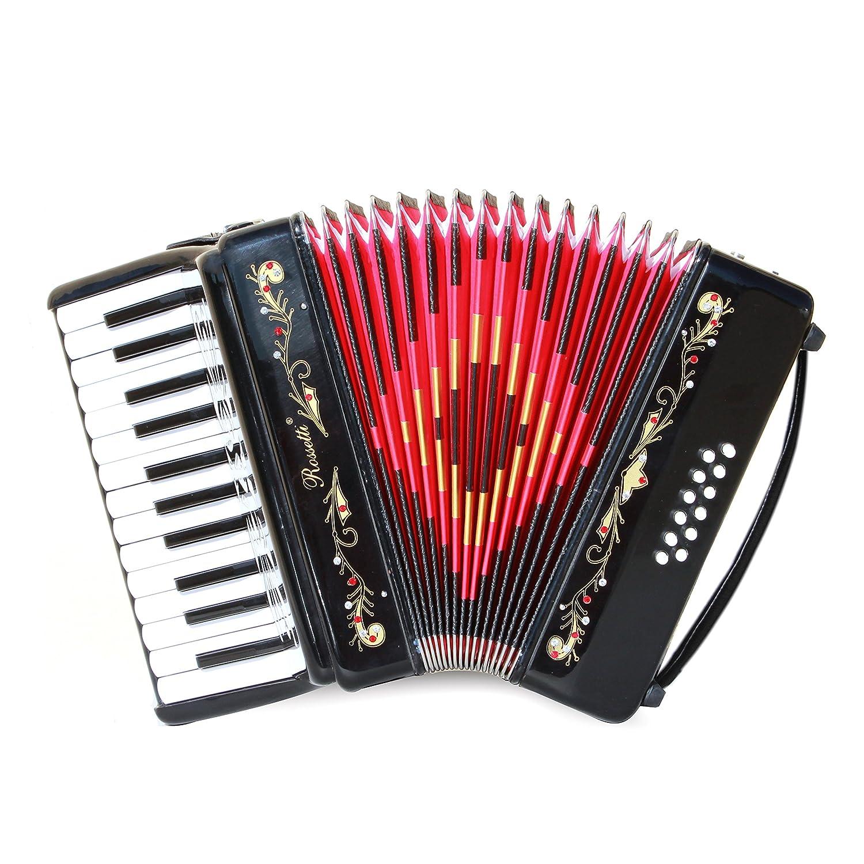 Rossetti Beginner Piano Accordion 12 Bass 25 Keys Black 2512-Black