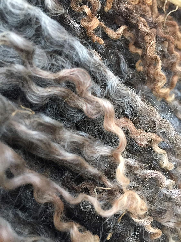 Wensleydale Raw Wool Fleece Grey