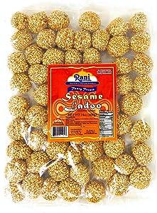 Rani Sesame Ladoo (Round Sesame Brittle Candy) 14oz (400g) ~ All Natural | Vegan | No colors | Gluten Free Ingredients | Indian Origin