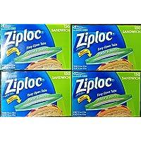 Ziploc Sandwich Bags Easy Open Tabs, 150 Count (Pack of 4)