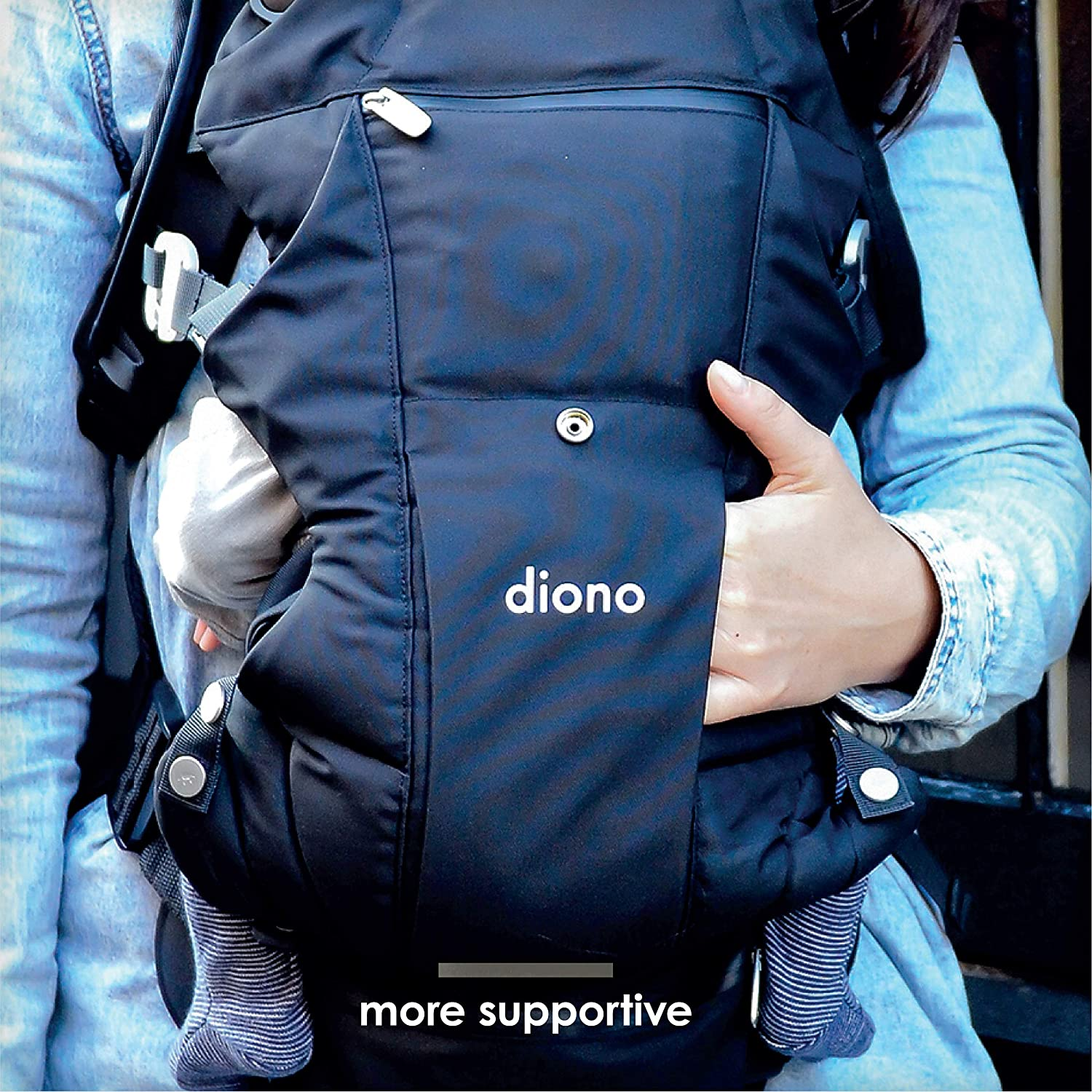 Light Grey Diono Carus Essentials 3-In-1 Baby Carrying System