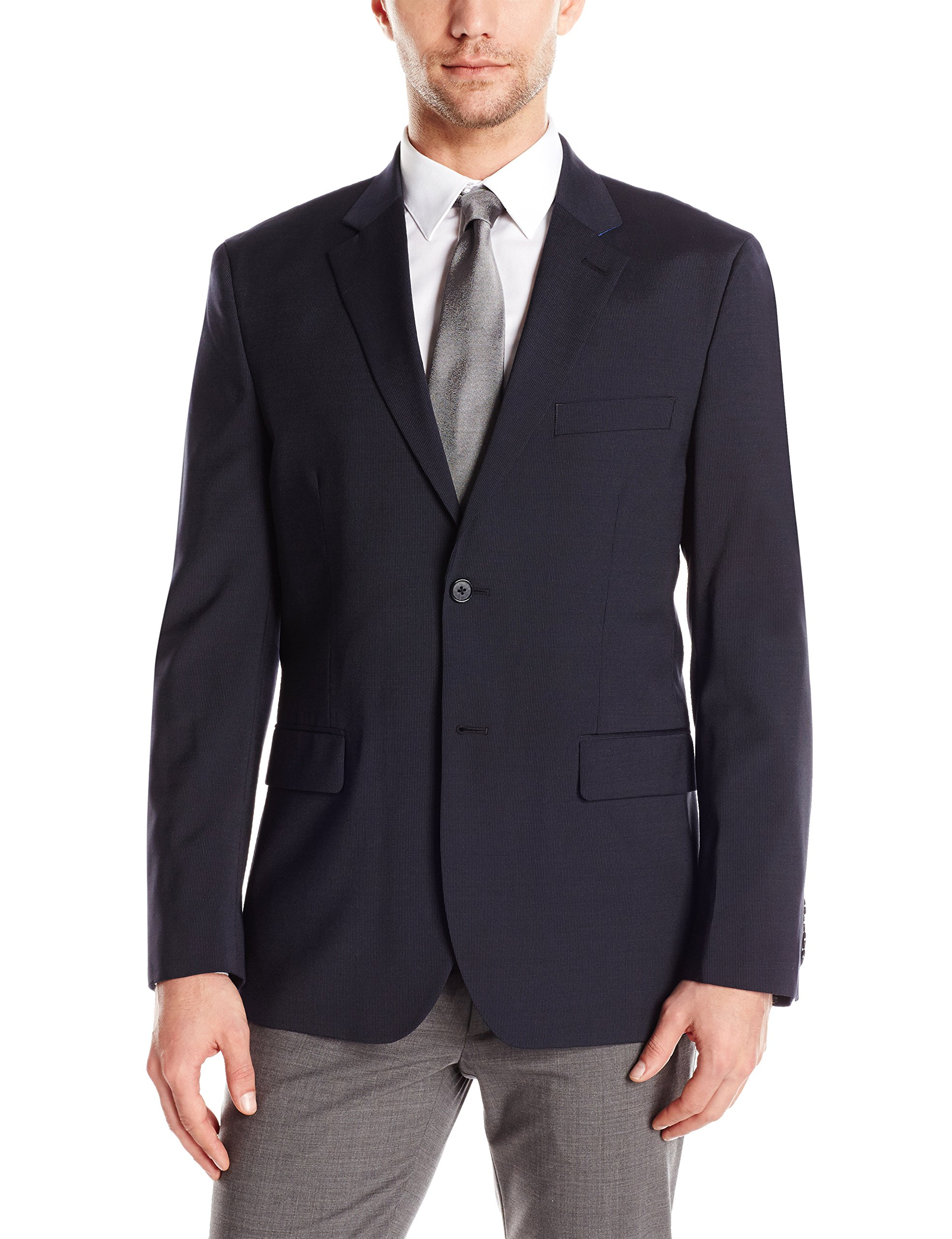 Nautica Men's Performance Wool Suit Separate Jacket, Navy, 44 Regular