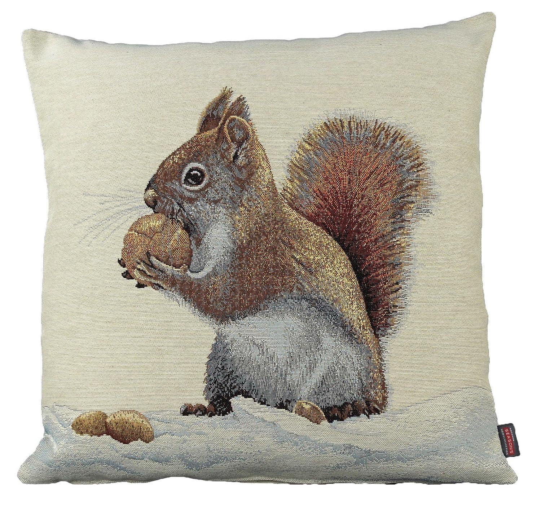 Hossner Kissenhülle 45x45 cm Gobelin Kissen Eichhörnchen ...