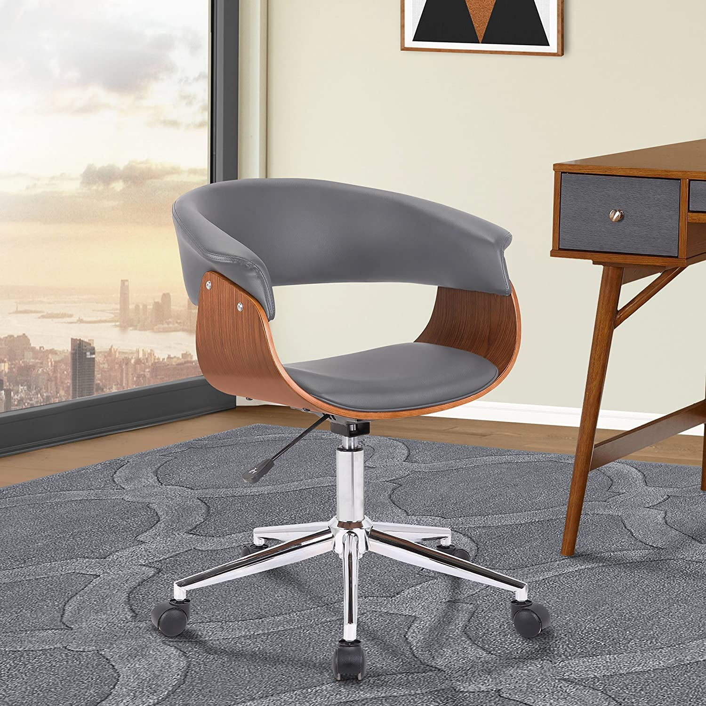 Armen Living LCBVOFCHWAGR Bellevue Office Chair, Gray