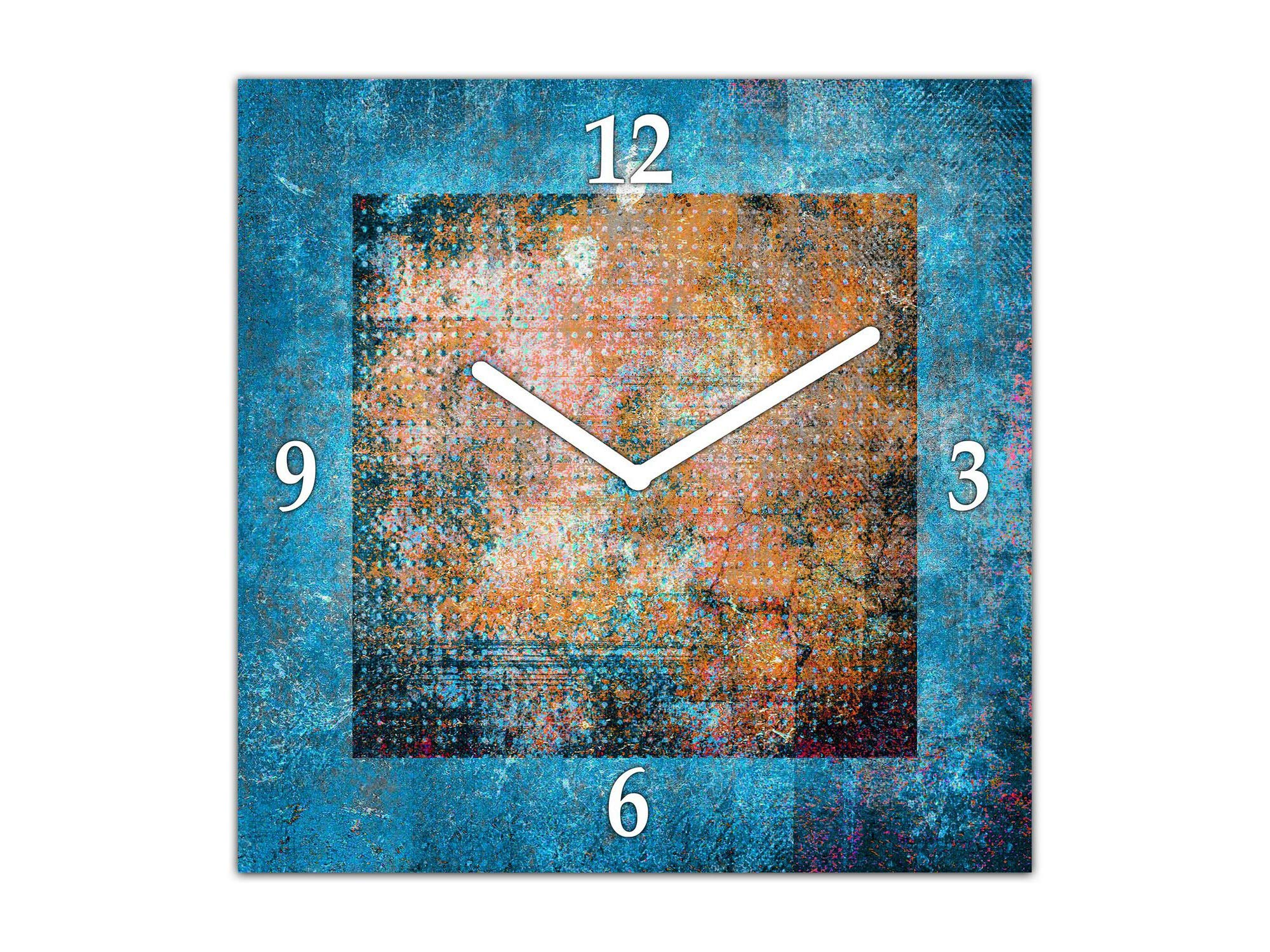 Concept Crystal Glass Wall Clock – Wall Clock Unique Design – Silent Clock for Home Décor TG10B Surfaces Series: Amazing Wallpaper