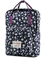 "HotStyle Personalized Flora Waterproof Backpack for College Girl Fits 14"" Laptop"