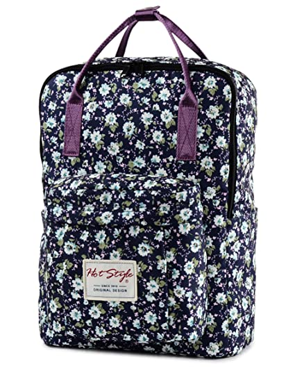 HotStyle Fashion Printed  Bestie Cute Floral Laptop Backpack for School  Girls, NavyBlue  Amazon.in  Computers   Accessories b66d114f99