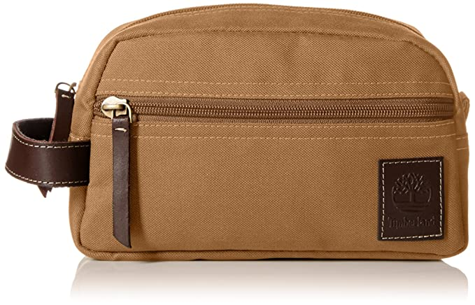 Timberland Men s Toiletry Bag Canvas Travel Kit Organizer, Khaki, One Size 0e727aa8c6