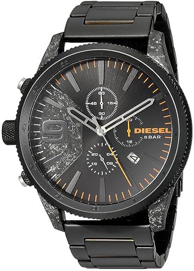 2b34484bc780 Diesel Reloj Cronógrafo para Hombre de Cuarzo con Correa en Acero  Inoxidable DZ4469  Amazon.es  Relojes