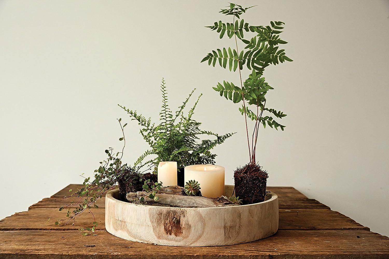 Creative Co-op Paulownia Wood Hand Carved Tray DA6636