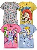 Disney Girls 4 Pack Short Sleeve T-Shirts