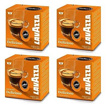 Lavazza A Modo Mio cápsulas de máquina de café Espresso Delizioso 16 (Pack de 4): Amazon.es: Hogar
