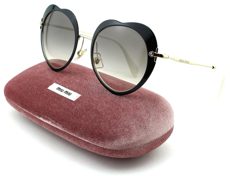 57f4c00a3a Amazon.com  Miu Miu MU 54RS Women Ireegular Metal Sunglasses (Black Frame
