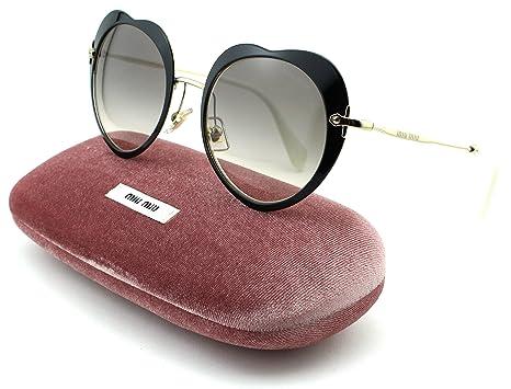 101271790b43 Amazon.com  Miu Miu MU 54RS Women Ireegular Metal Sunglasses (Black Frame
