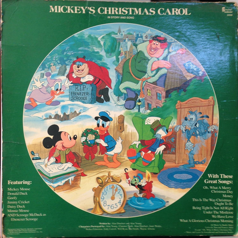 Mickeys Christmas Carol Book.Mickey S Christmas Carol Picture Disc Amazon Com Music