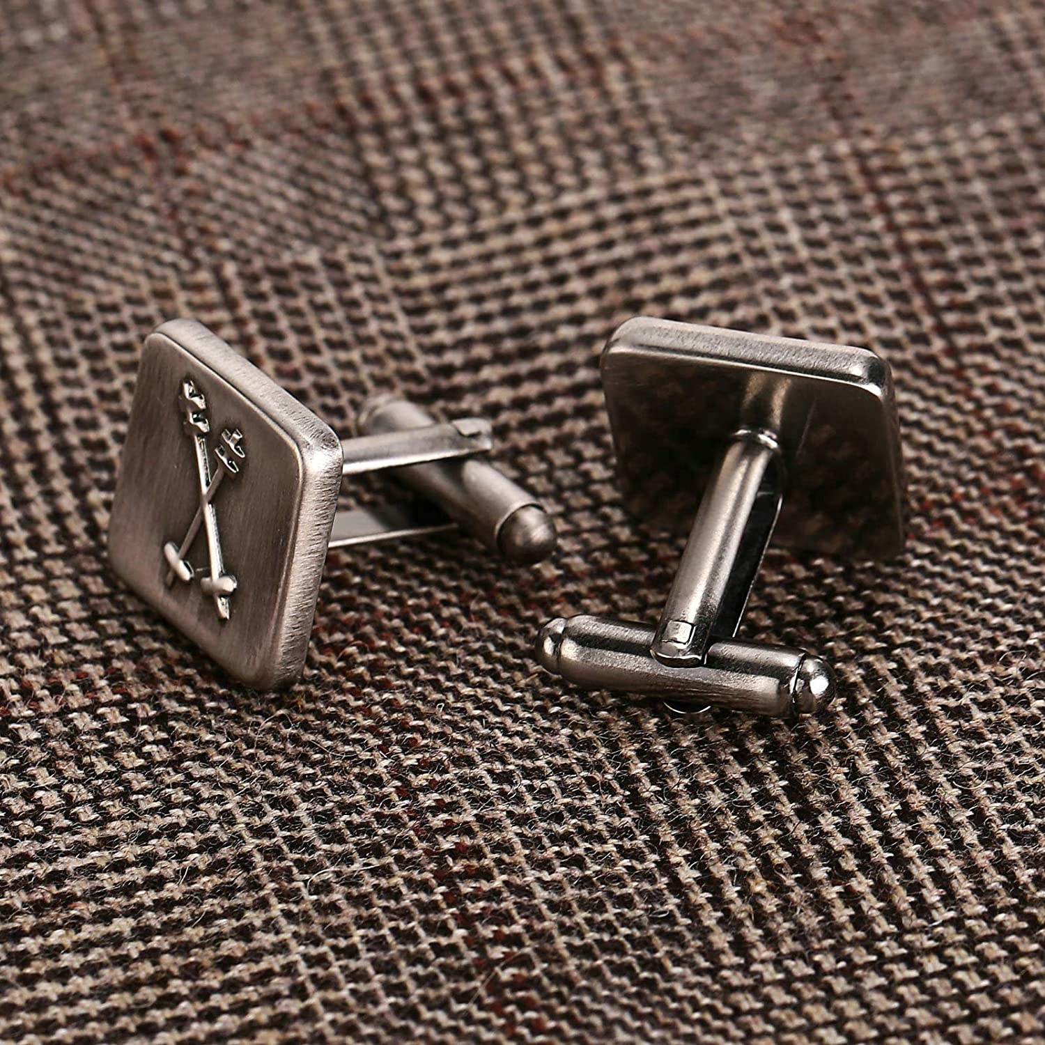 Novelty Cufflinks Dad Unique Jewelry Box Charm Mh86 Aooaz 5 Styles Mens Stainless Steel Cufflinks 2Pcs