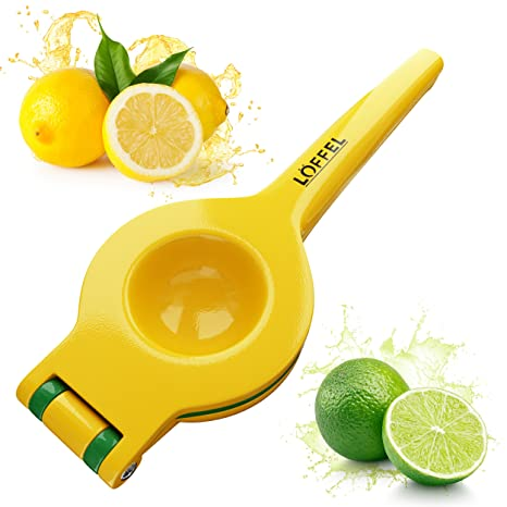 Lemon Squeezer Citrus Lime Juicer - Best Top Rated Heavy Duty Hand Held Manual Double Bowl Orange Press and Fruit Exprimidor de Limones, FDA Quality ...