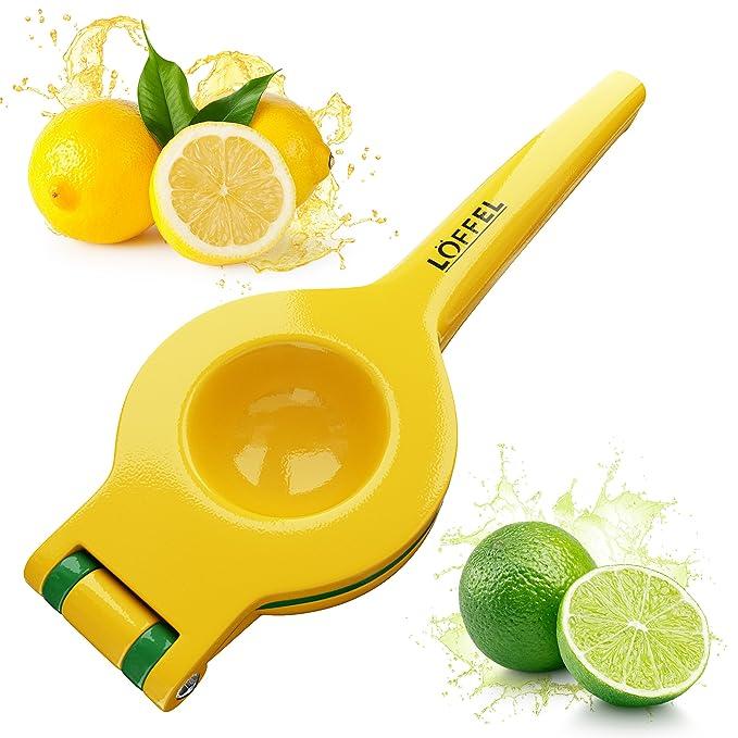Amazon.com: Lemon Squeezer Citrus Lime Juicer - Best Top Rated Heavy Duty Hand Held Manual Double Bowl Orange Press and Fruit Exprimidor de Limones, ...