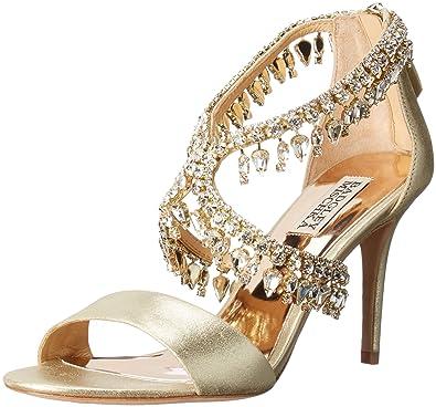 16eeb36ffaea Amazon.com  Badgley Mischka Women s Grammy Ii Dress Sandal Platino 5 ...