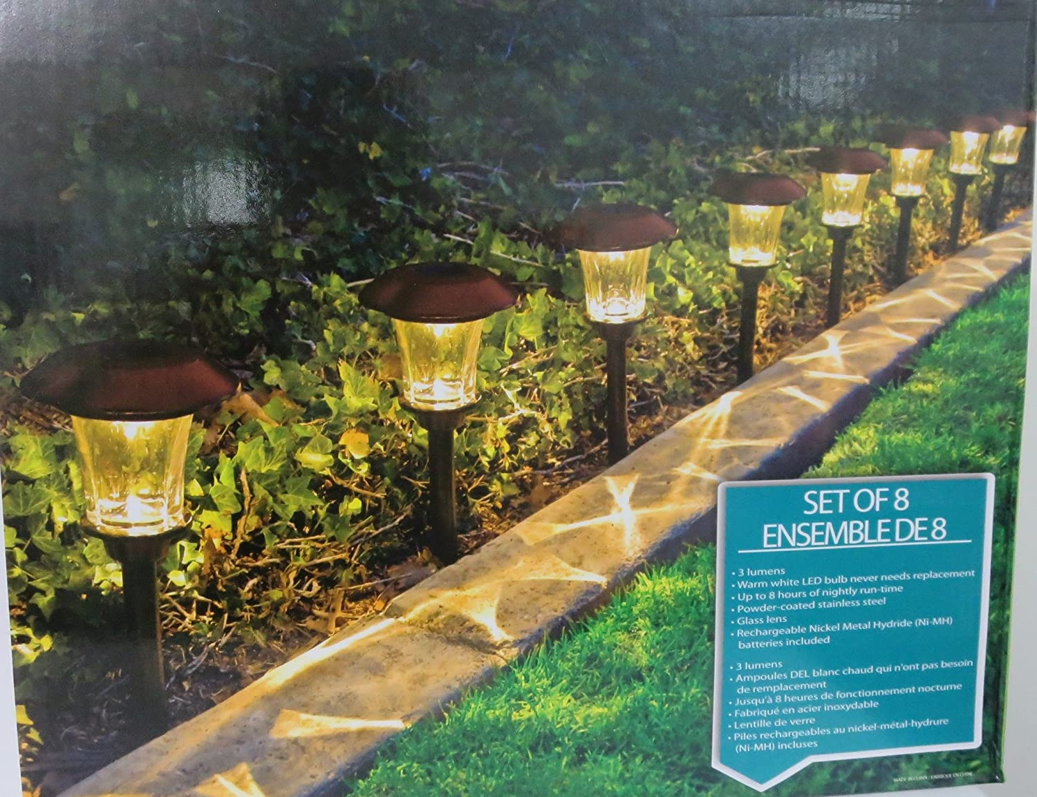 HGTV Solar LED Pathway Lights   8 Pack