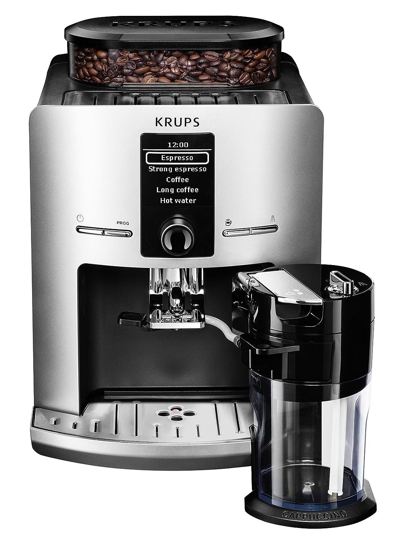 Krups EA 829E - Cafetera automática, 1450 W, 1.7 l, color gris