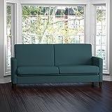 Handy Living Samuel Caribbean Blue Linen Convert-a-Couch Futon Sleeper Sofa