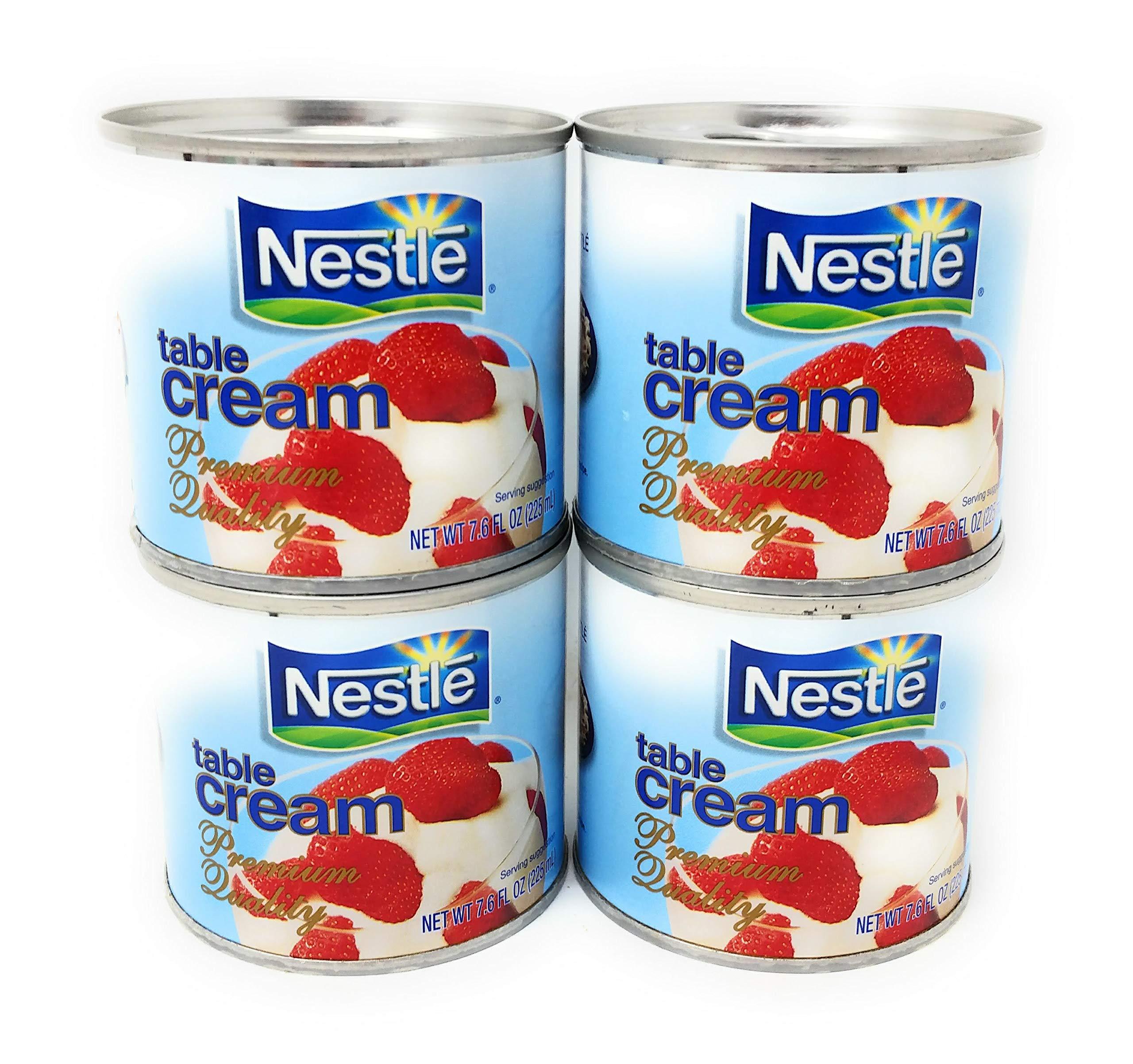 Nestle Table Cream, Net Wt. 7.6fl oz (225mL) per Can, 4 Pack