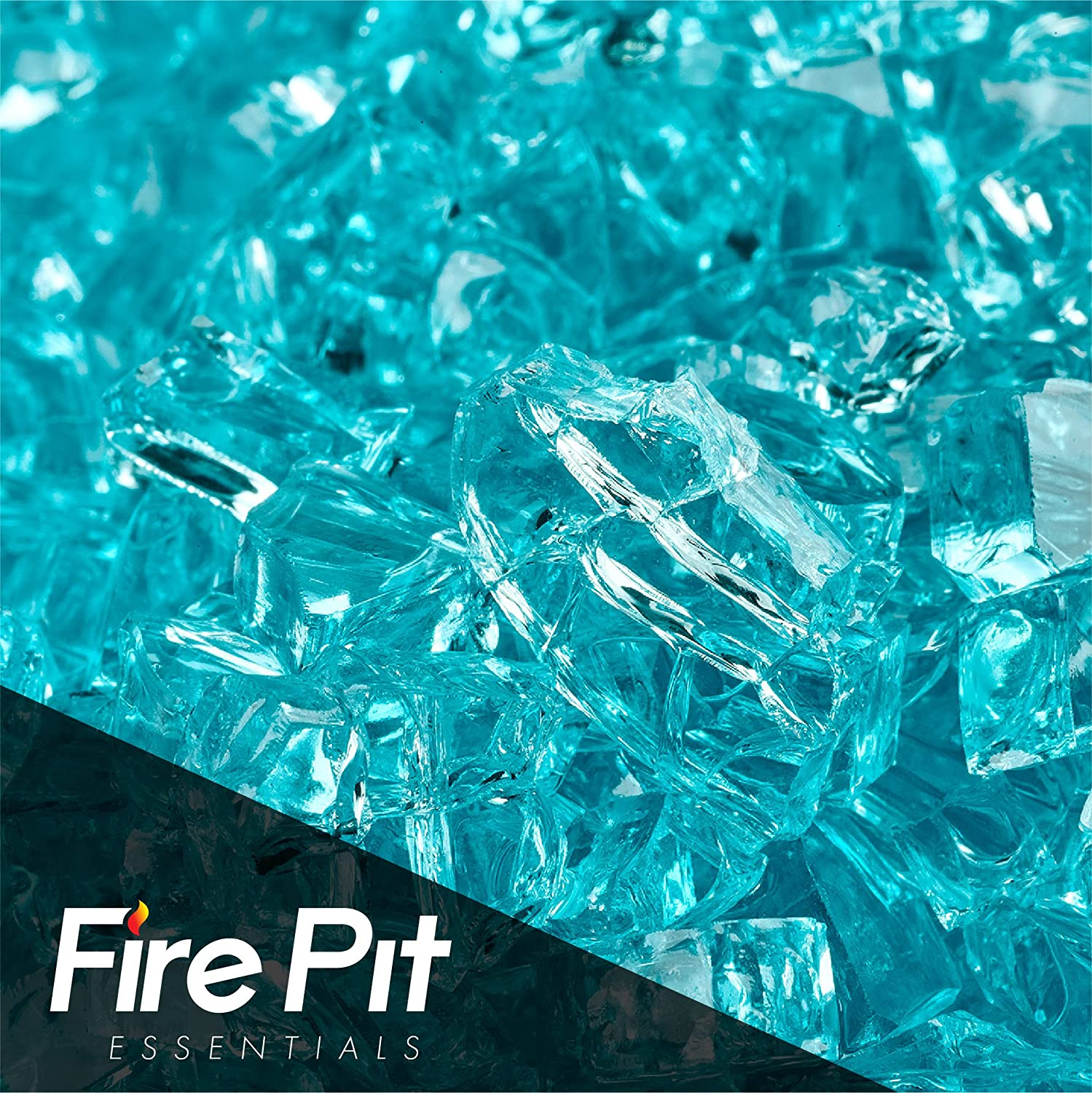 Fireglass 10-pound Fire Glass with Fireplace Glass and Fire Pit Glass, 1/4-inch, Azuria Fire Pit Essentials