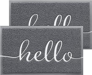 BeneathYourFeet 2-Pack Door Mat Indoor Outdoor Doormat Multiple-use Welcome Mats for Front Door Easy to Clean Garage Floor Mat Durable Wear-Resistant Rugs for Outside Entry(30