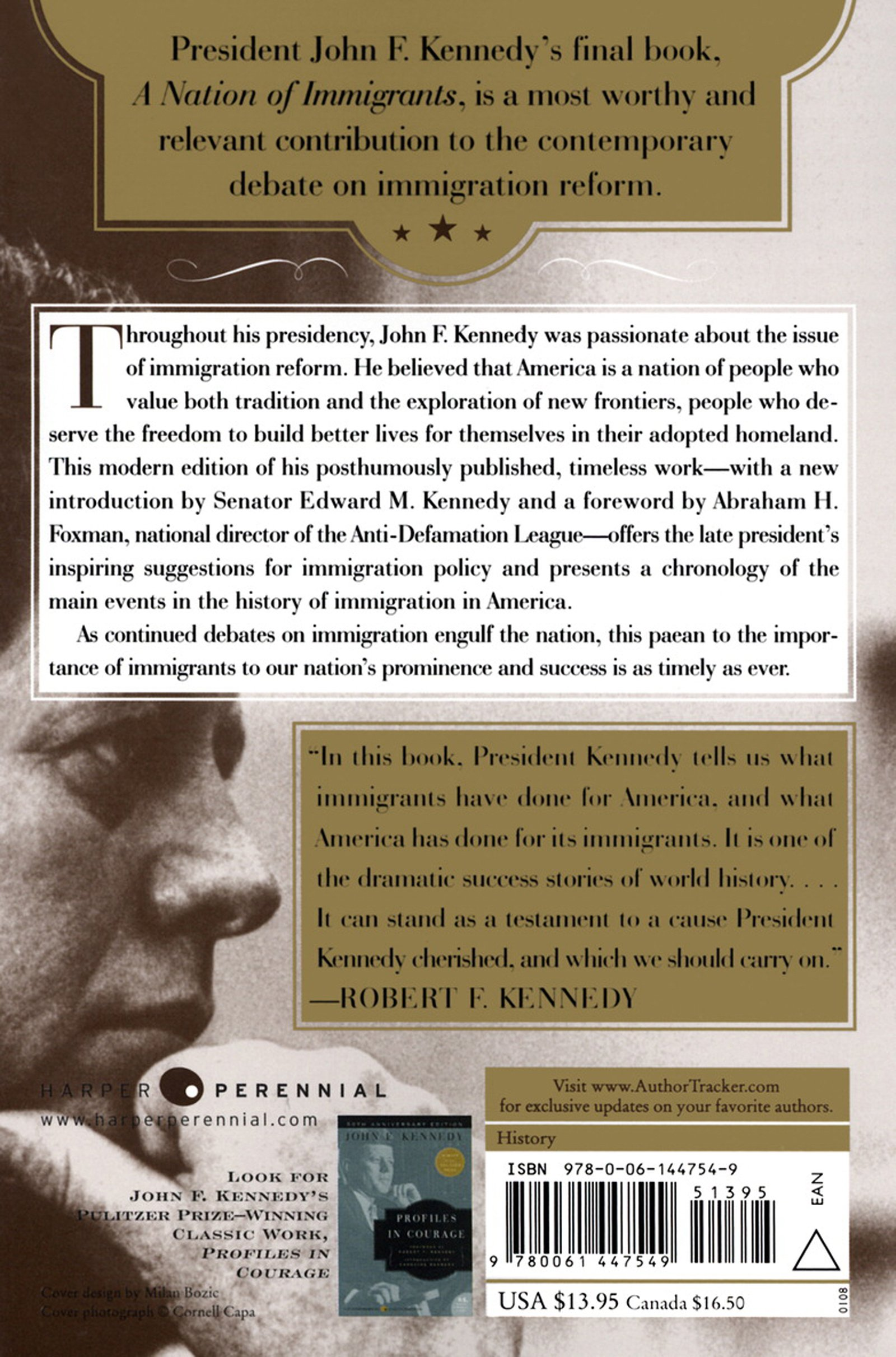 Amazon: A Nation Of Immigrants (9780061447549): John F Kennedy: Books