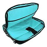 Aqua Briefcase/Crossbody Shoulder Business/College