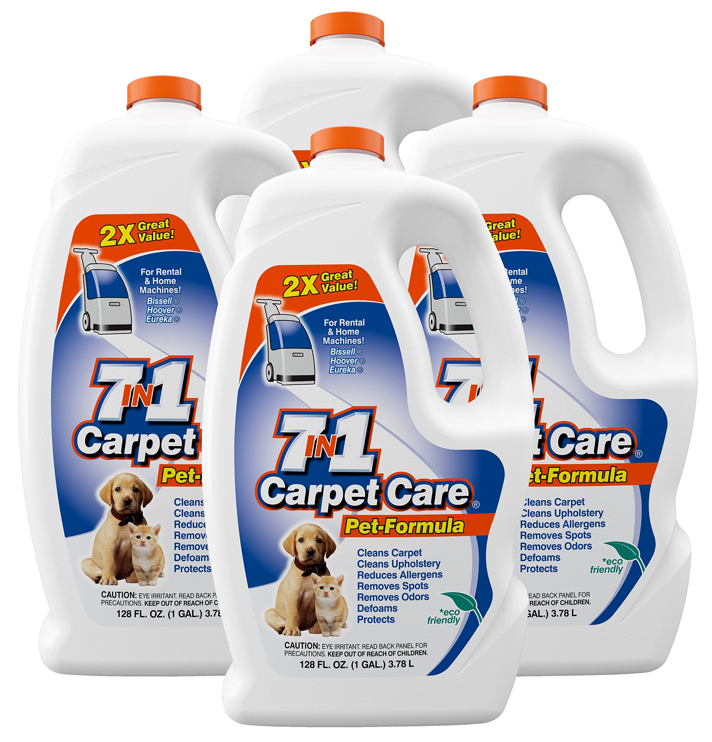 7in1 Carpet Care Pet Formula Carpet Cleaning Solution-One case of four one gallon bottles