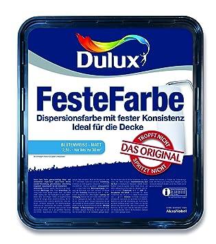 Dulux Feste Farbe Wand Und Deckenfarbe Blütenweiß Matt Amazonde