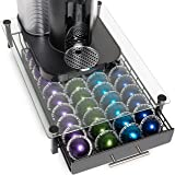 Nook & Niche brand Premium Glass Stand with Pod Drawer - For Nespresso VertuoLine and VertuoPlus Coffeemakers - (Stand…