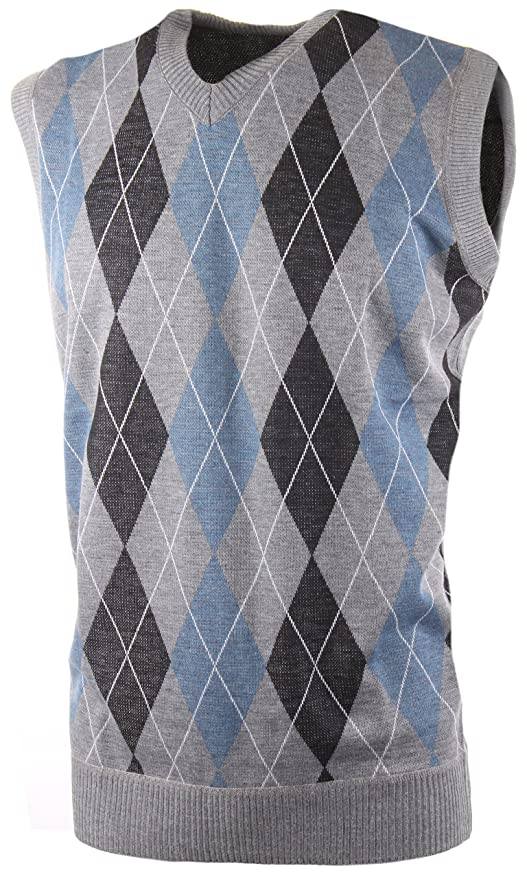 Men's Vintage Inspired Vests Enimay Mens Argyle V-Neck Golf Sweater Vest (Many Colors Available) $24.99 AT vintagedancer.com