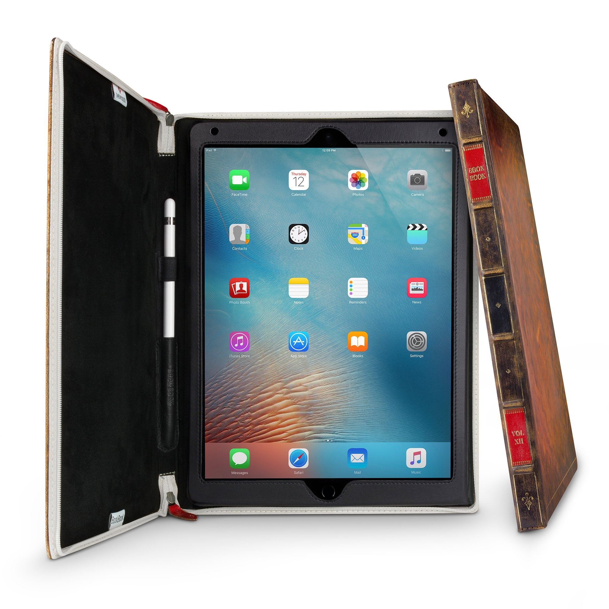 Twelve South BookBook for iPad Pro (12.9-inch, 1st Gen), Rutledge |  hardback leather case and easel for iPad Pro + Apple Pencil by Twelve South