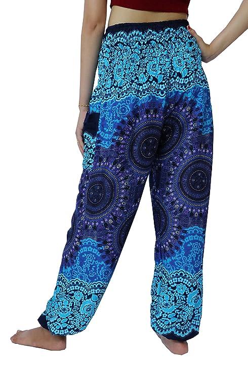 NaLuck Pantalones hippies para mujer 16faef1740fd