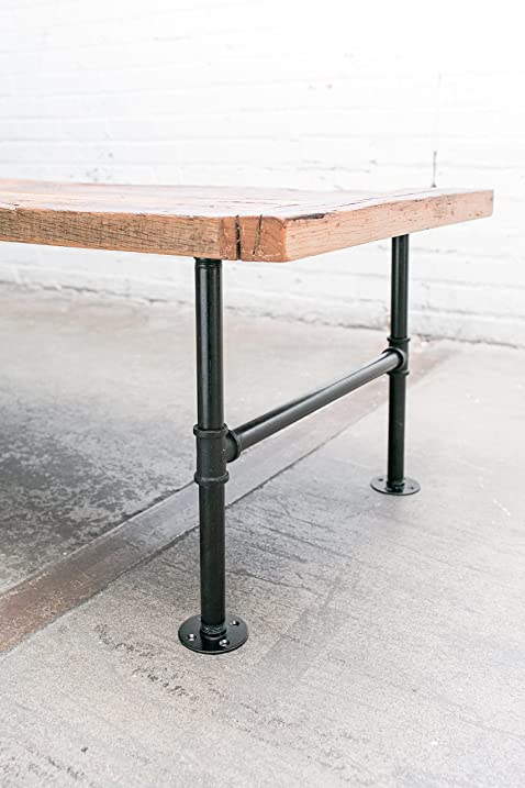 Amazing 16u0026quot; Industrial Pipe Table Legs (H Style, Black Zinc Plated) ▫